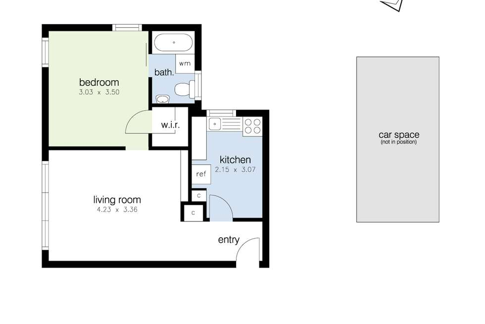 Floorplan of Homely apartment listing, 8/39-41 Hyde Street, Footscray VIC 3011