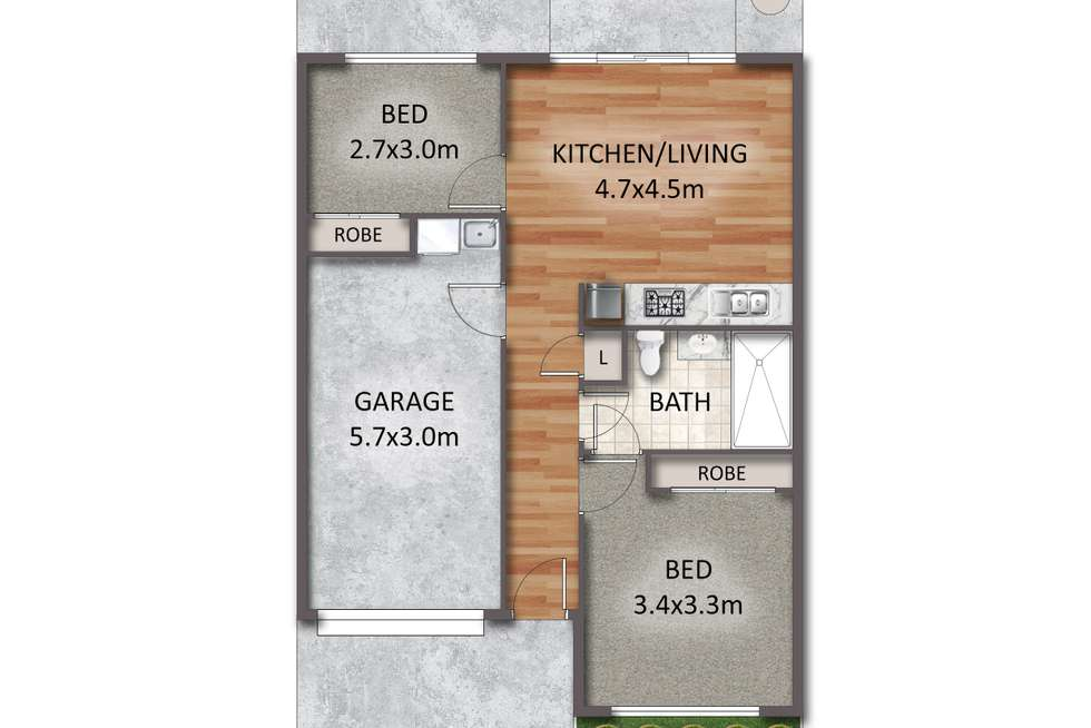 Floorplan of Homely townhouse listing, 11/62-64 River Hills Road, Eagleby QLD 4207