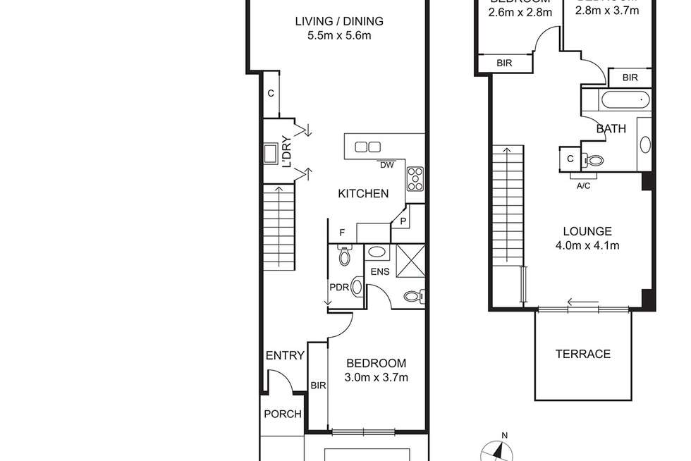 Floorplan of Homely house listing, 231A The Boulevard, Port Melbourne VIC 3207
