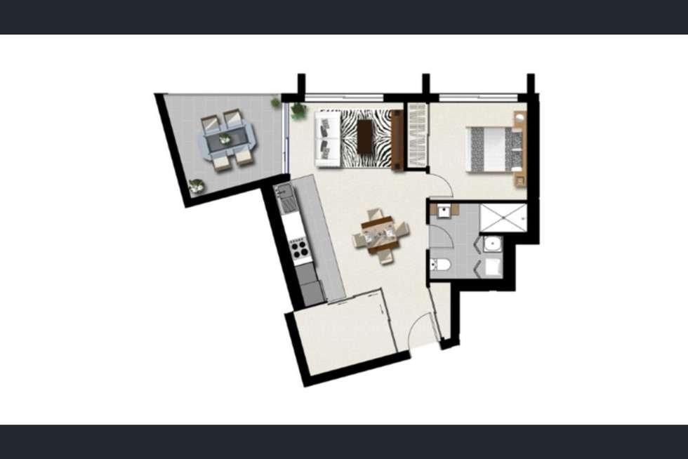 Floorplan of Homely apartment listing, 1002/35 MCDOUGALL, Milton QLD 4064