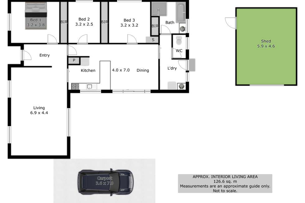Floorplan of Homely house listing, 383 Dale Crescent, Lavington NSW 2641
