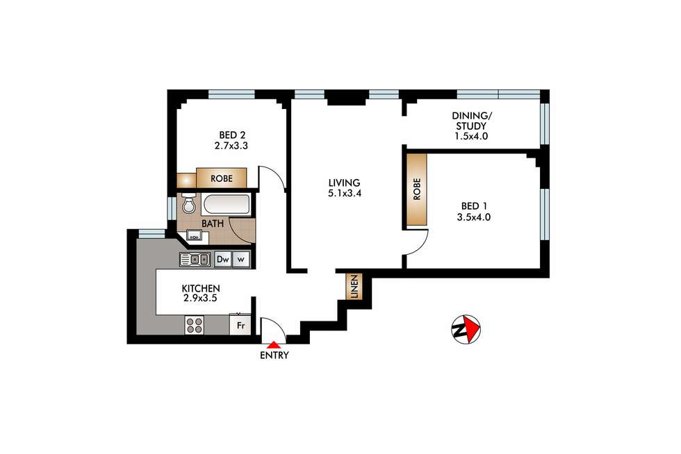 Floorplan of Homely apartment listing, 4/18 Stafford Street, Double Bay NSW 2028
