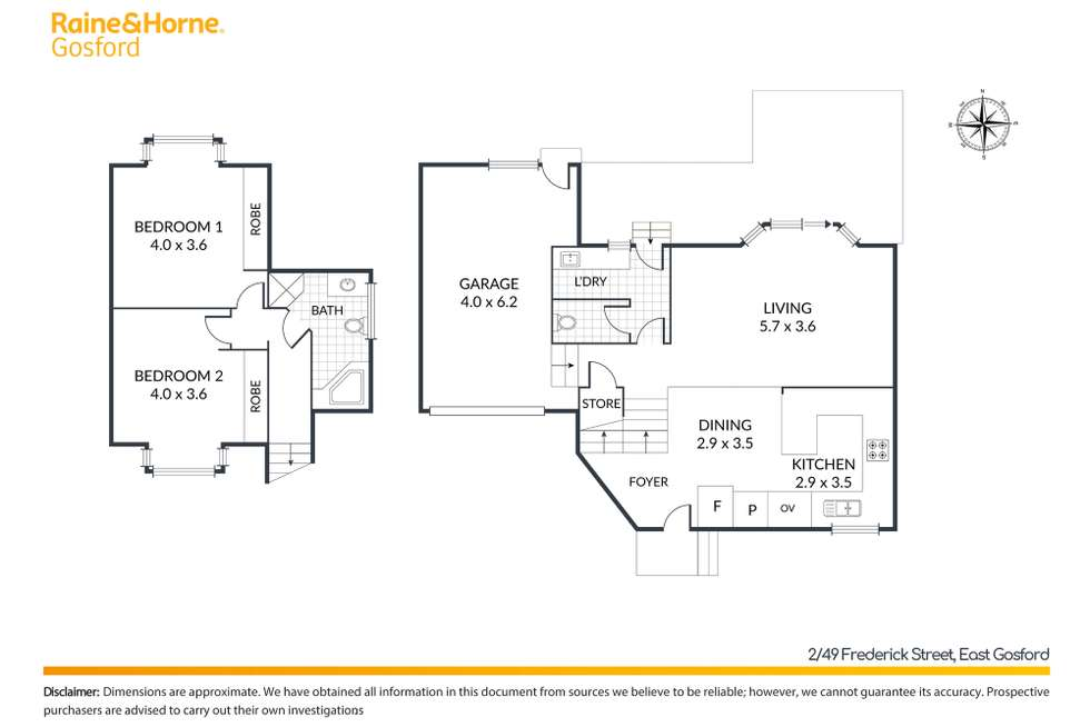 Floorplan of Homely townhouse listing, 2/49 Frederick Street, East Gosford NSW 2250
