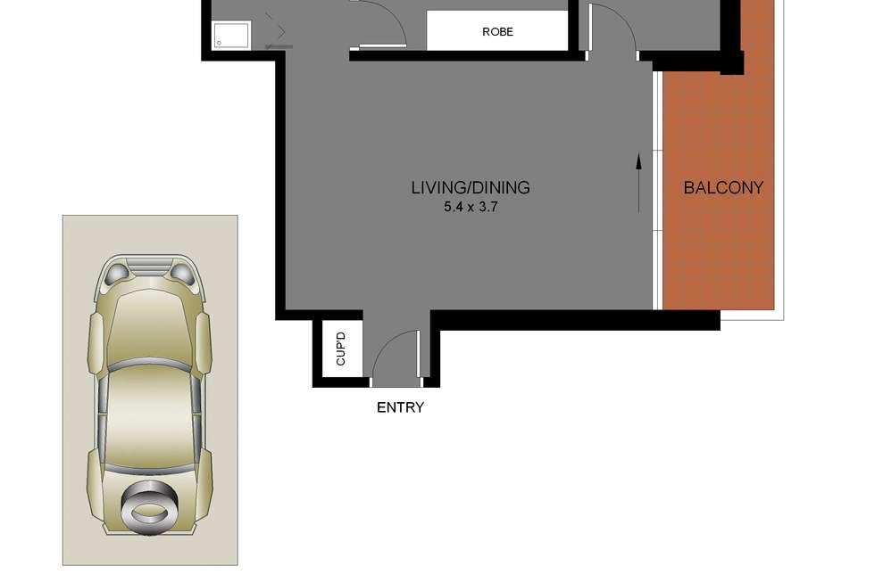 Floorplan of Homely apartment listing, 24/34 Gerard Street, Cremorne NSW 2090