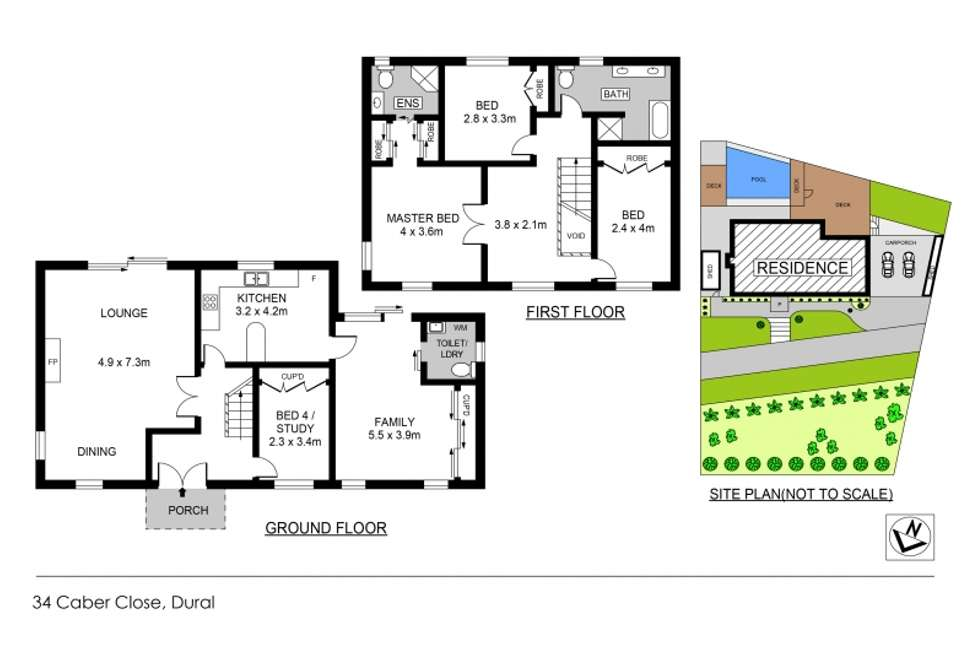 Floorplan of Homely house listing, 34 Caber Close, Dural NSW 2158