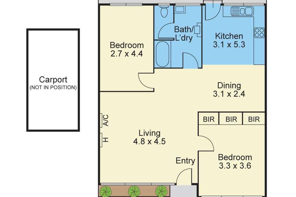 Floorplan of Homely unit listing, 6/111 Kenmare Street, Mont Albert North VIC 3129
