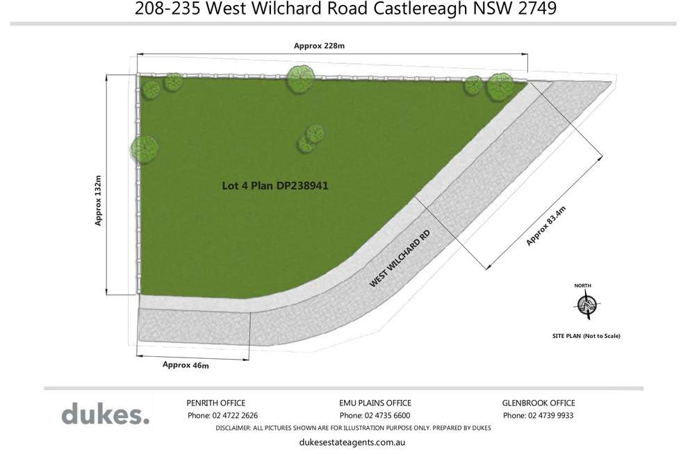 Floorplan of Homely residentialLand listing, 208-235 West Wilchard Road, Castlereagh NSW 2749