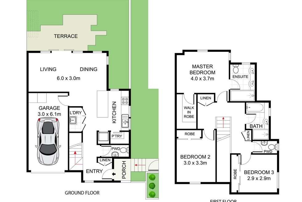 Floorplan of Homely townhouse listing, 74 Bridge Street, Waratah NSW 2298