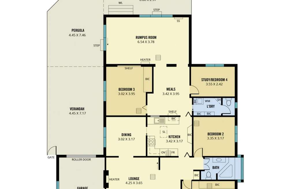 Floorplan of Homely other listing, 15 Brooklyn Avenue, Glenelg North SA 5045