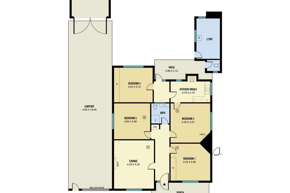 Floorplan of Homely house listing, 41 Barwell Avenue, Marleston SA 5033