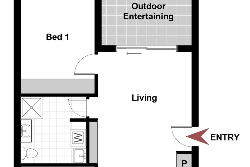Floorplan of Homely apartment listing, 13/126 Thynne Street, Bruce ACT 2617