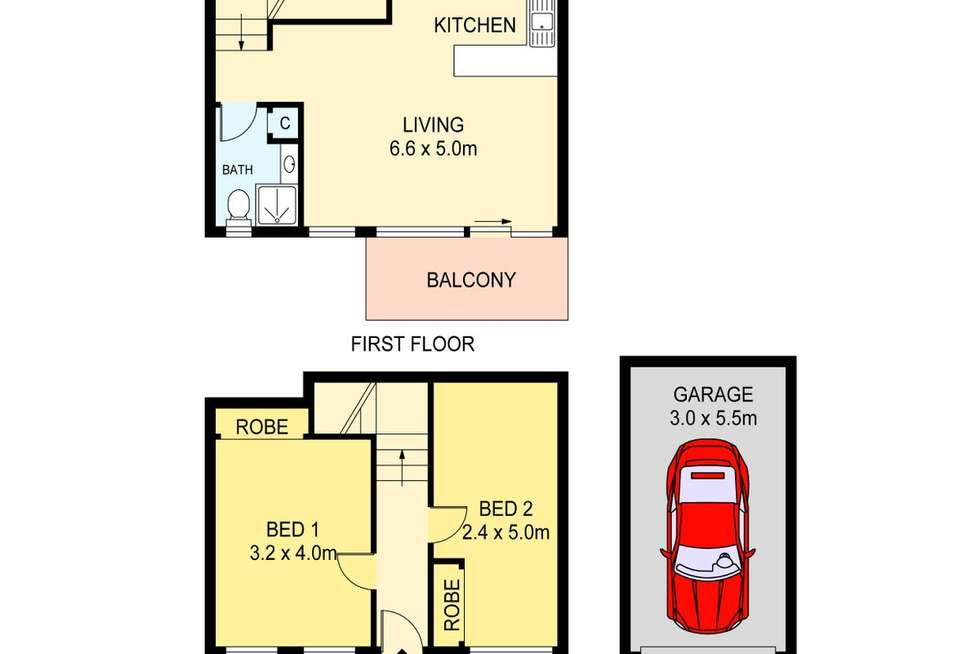 Floorplan of Homely unit listing, 5/34 Marine Parade, The Entrance NSW 2261
