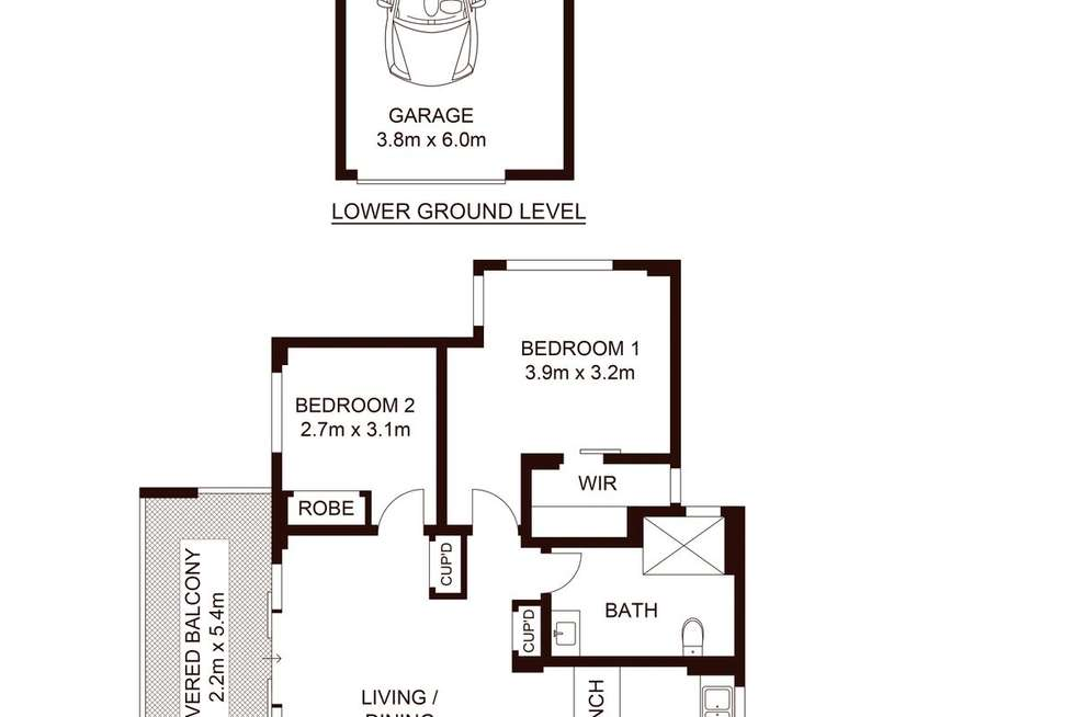 Floorplan of Homely unit listing, 25/6-8 Banksia Rd, Caringbah NSW 2229