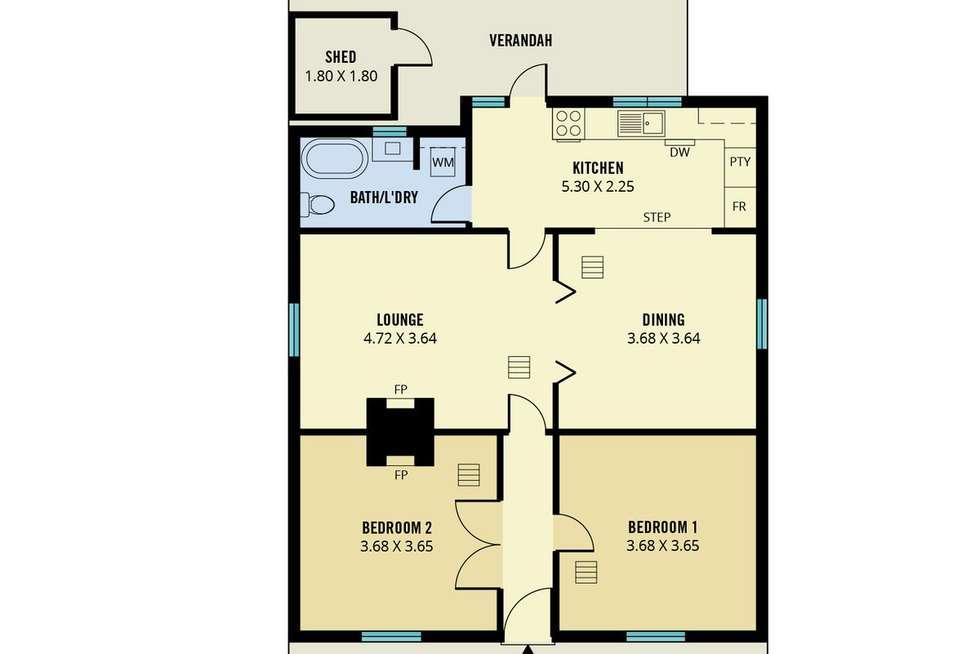 Floorplan of Homely house listing, 20 Mary Street, Glenelg North SA 5045