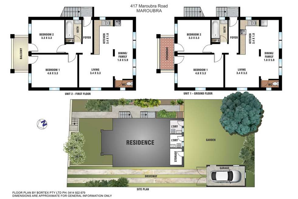 Floorplan of Homely house listing, 417 Maroubra Road, Maroubra NSW 2035