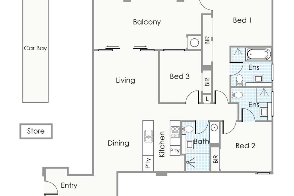 Floorplan of Homely apartment listing, 27/52 Wickham Street, East Perth WA 6004