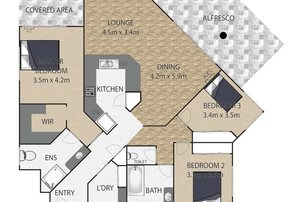 Floorplan of Homely villa listing, 1/66 Agnes Street, Birkdale QLD 4159