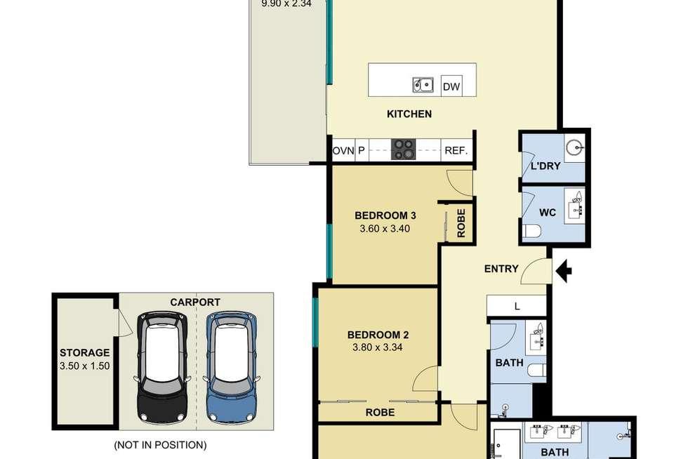 Floorplan of Homely apartment listing, 1201/47 Hindmarsh Square, Adelaide SA 5000