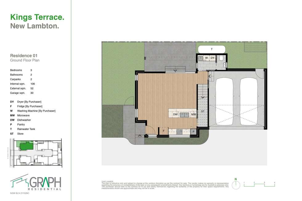 Floorplan of Homely townhouse listing, 1/29 Kings Road, New Lambton NSW 2305