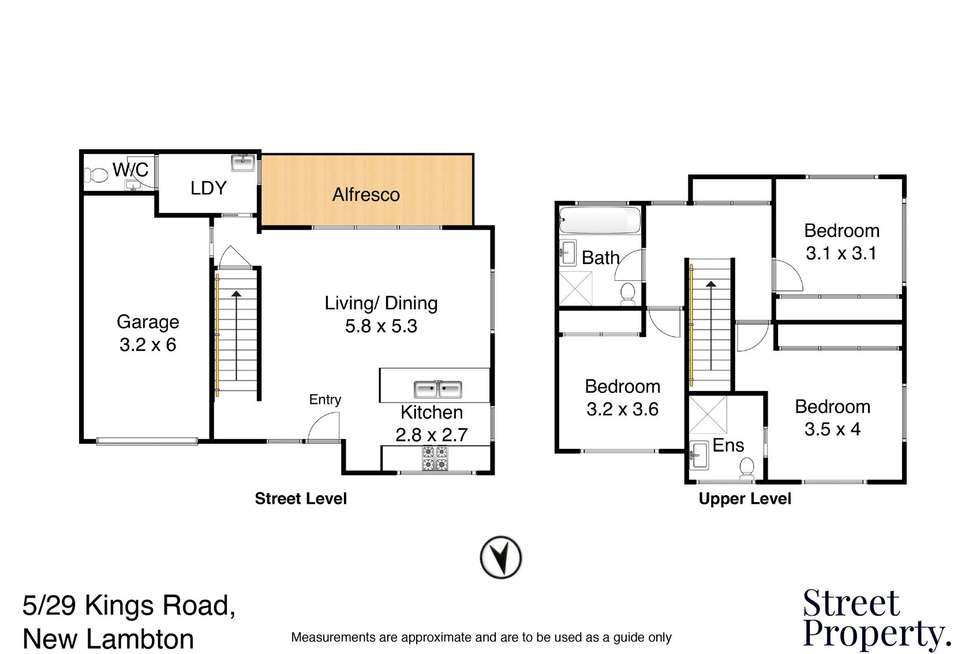 Floorplan of Homely townhouse listing, 5/29 Kings Road, New Lambton NSW 2305
