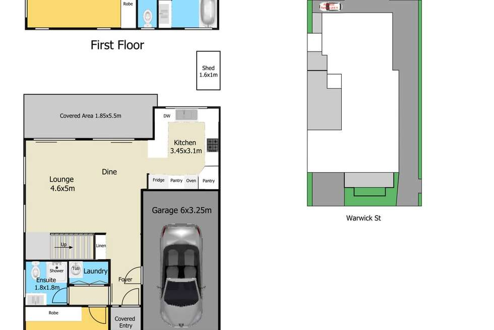 Floorplan of Homely townhouse listing, 4/13 Warwick Street, Blackwall NSW 2256