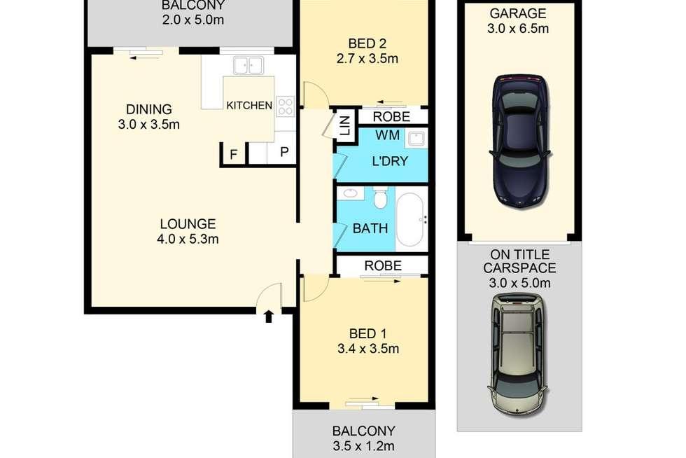 Floorplan of Homely unit listing, 9/71-73 Saddington Street, St Marys NSW 2760