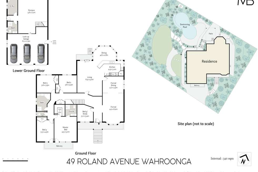 Floorplan of Homely house listing, 49 Roland Avenue, Wahroonga NSW 2076