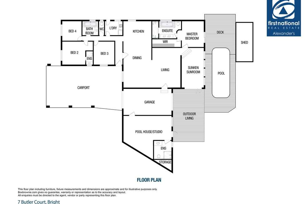 Floorplan of Homely house listing, 7 Butler Court, Bright VIC 3741
