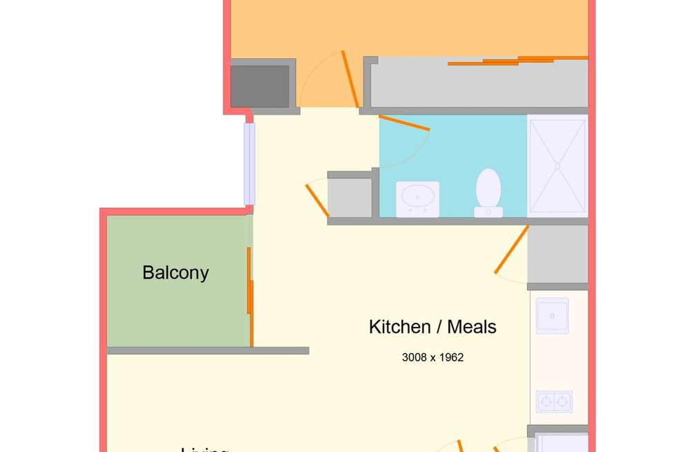 Floorplan of Homely apartment listing, 1504/133 City Road, Southbank VIC 3006