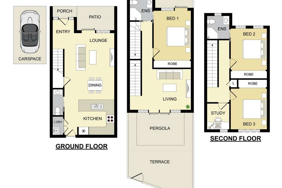 Floorplan of Homely townhouse listing, 4/6-11 Parkside Crescent, Campbelltown NSW 2560
