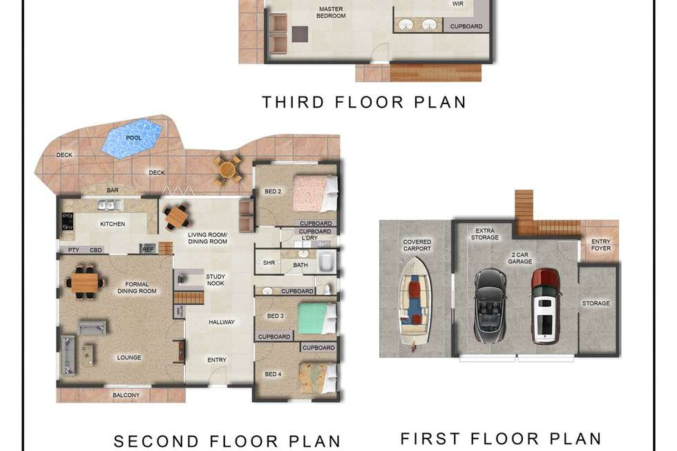Floorplan of Homely house listing, 50 Oakview Circuit, Brookwater QLD 4300