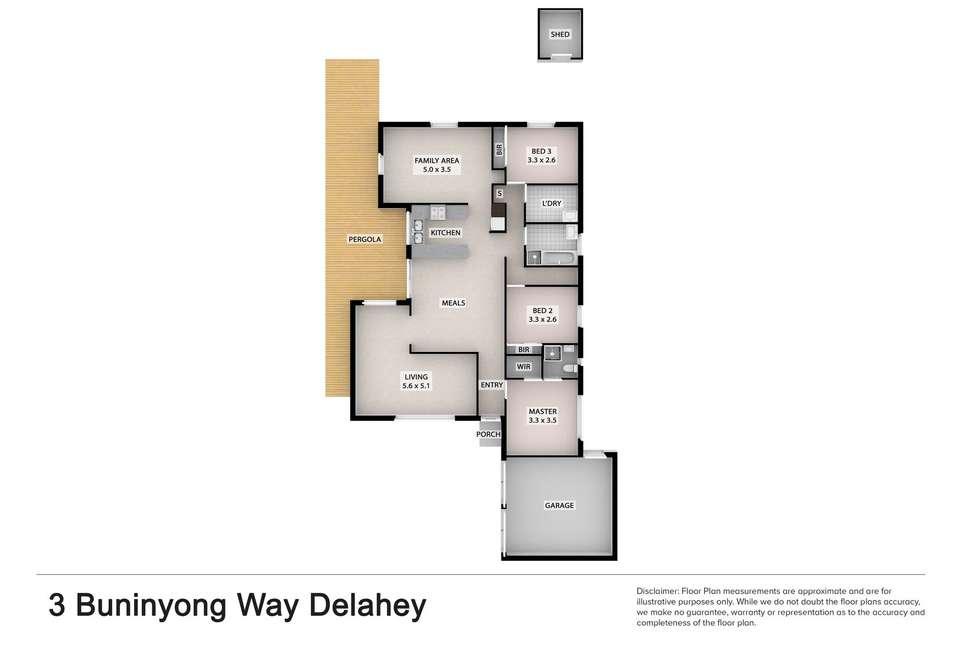 Floorplan of Homely house listing, 3 Buninyong Way, Delahey VIC 3037