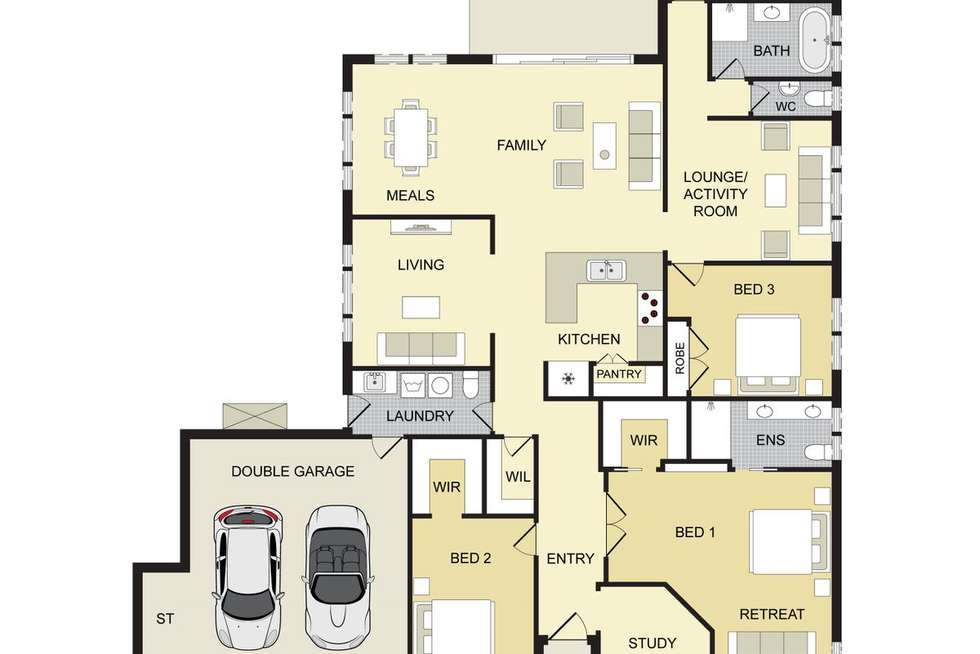 Floorplan of Homely house listing, 5 Heber Close, Cobbitty NSW 2570