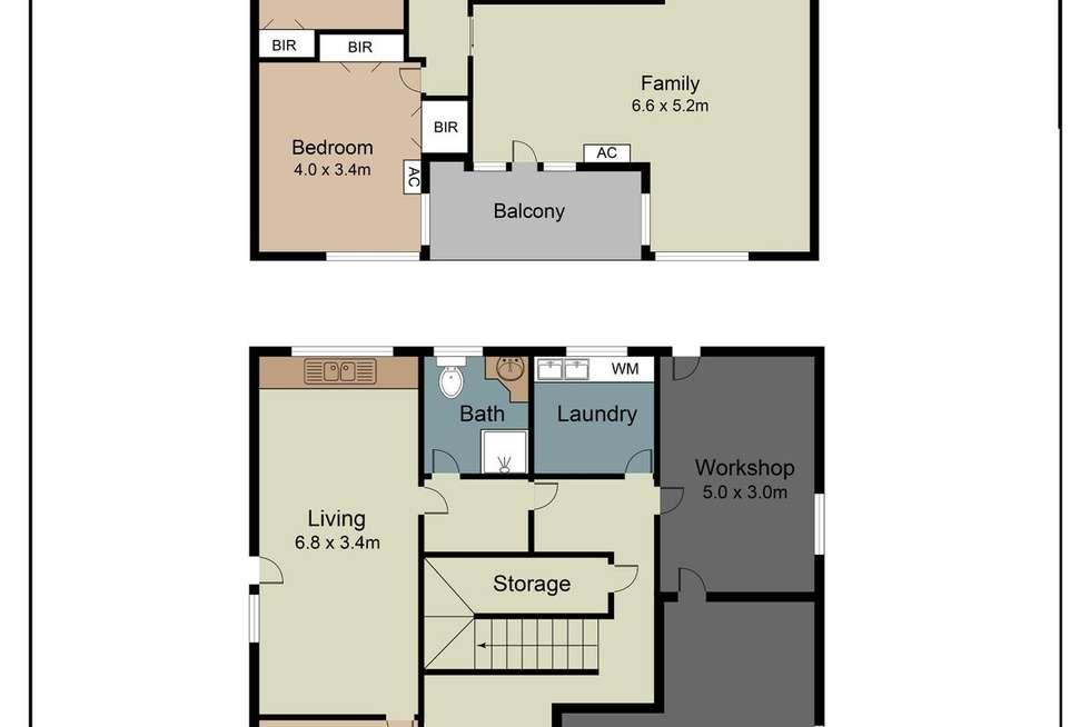 Floorplan of Homely house listing, 21 Kosky Street, Sunshine West VIC 3020