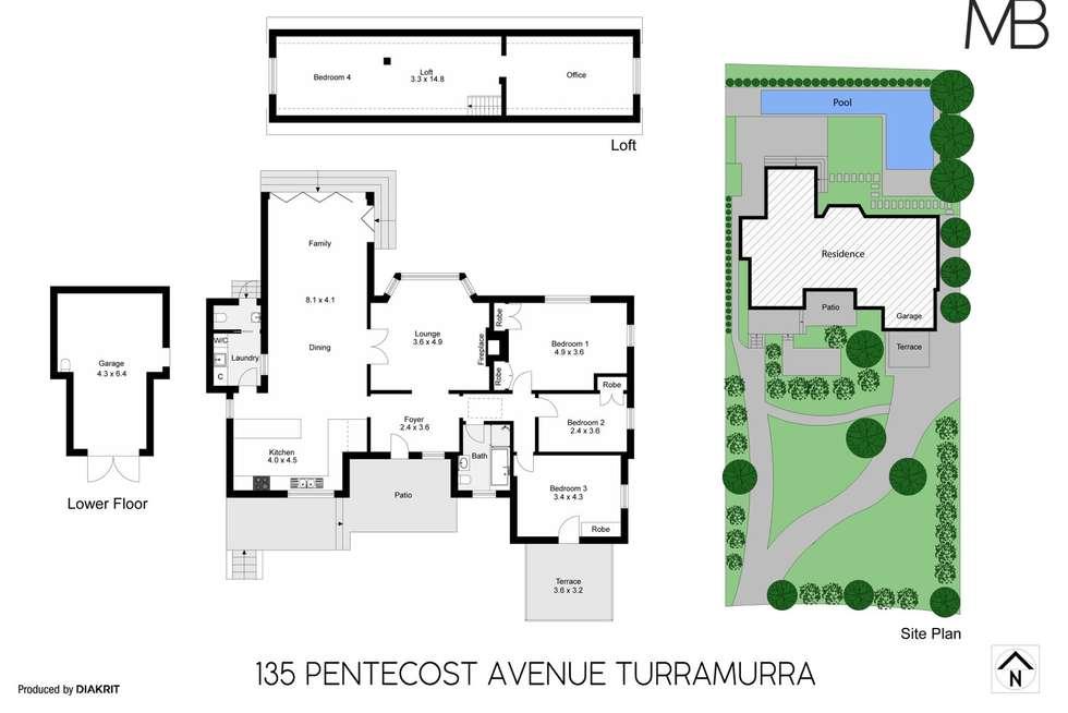 Floorplan of Homely house listing, 135 Pentecost Avenue, Turramurra NSW 2074