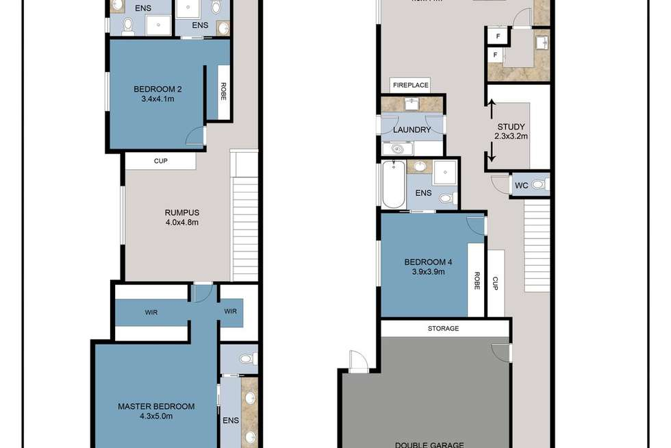 Floorplan of Homely house listing, 68A Tristania Street, Doncaster East VIC 3109