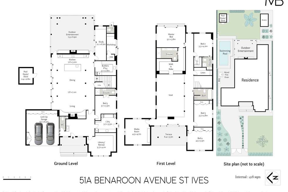 Floorplan of Homely house listing, 51A Benaroon Avenue, St Ives NSW 2075
