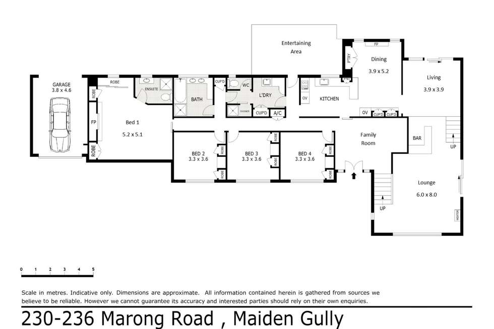 Floorplan of Homely house listing, 230-236 Marong Road, Maiden Gully VIC 3551