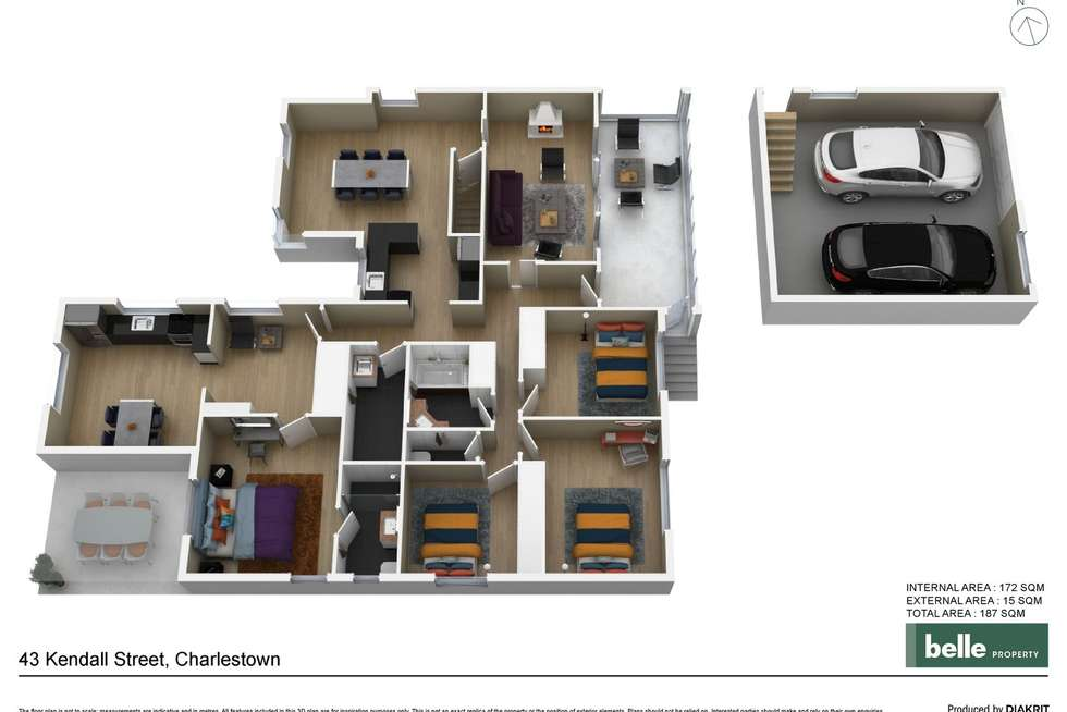 Floorplan of Homely house listing, 43 Kendall Street, Charlestown NSW 2290