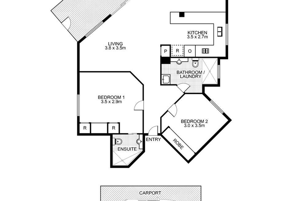 Floorplan of Homely apartment listing, 2/221-227 Gympie Terrace, Noosaville QLD 4566