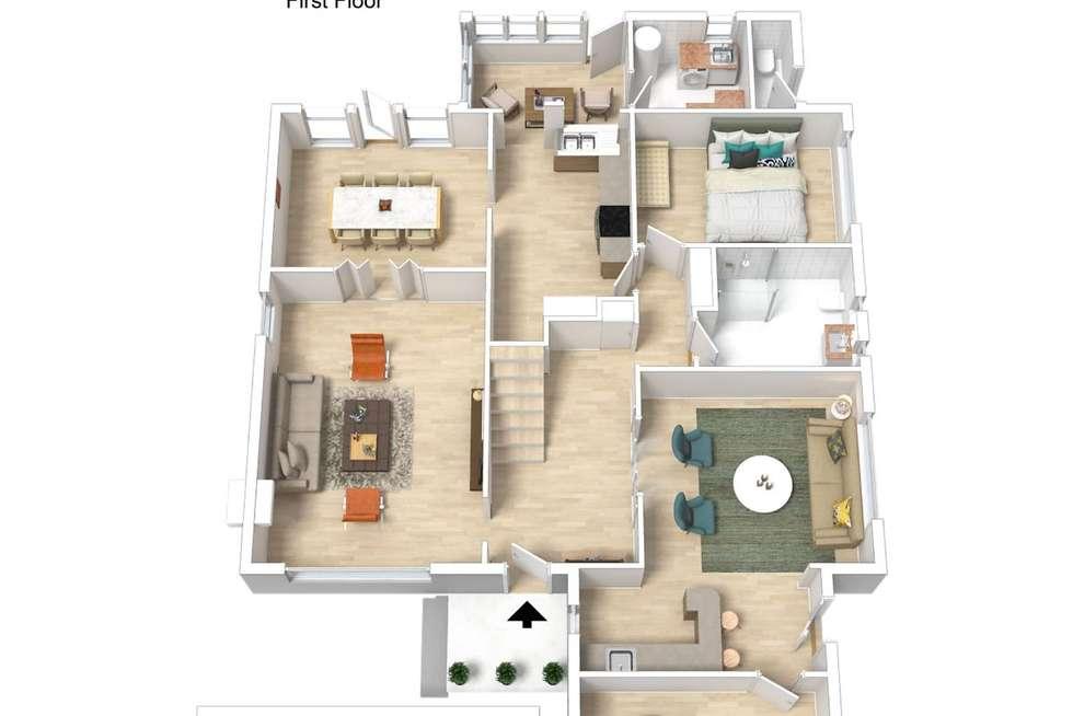 Floorplan of Homely house listing, 118 Woodland Street, Strathmore VIC 3041