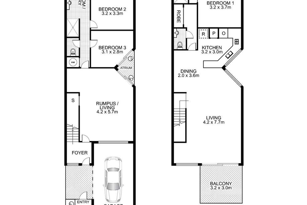 Floorplan of Homely townhouse listing, 10/2 Banksia Avenue, Noosa Heads QLD 4567