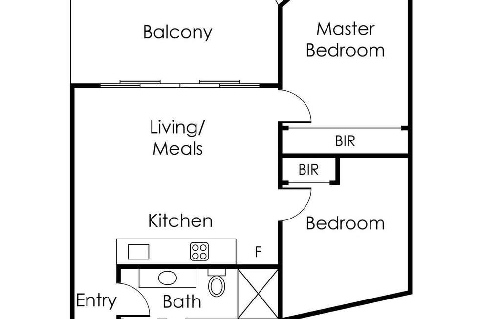 Floorplan of Homely apartment listing, 515/673 La Trobe Street, Docklands VIC 3008