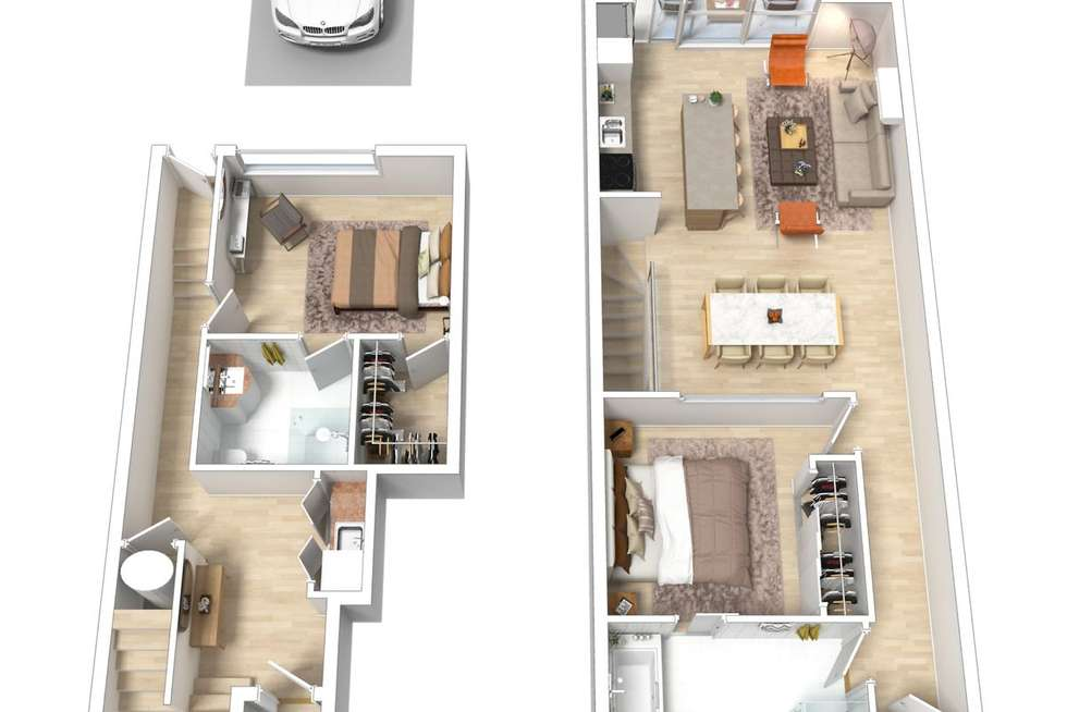 Floorplan of Homely apartment listing, 11/91-101 Leveson Street, North Melbourne VIC 3051