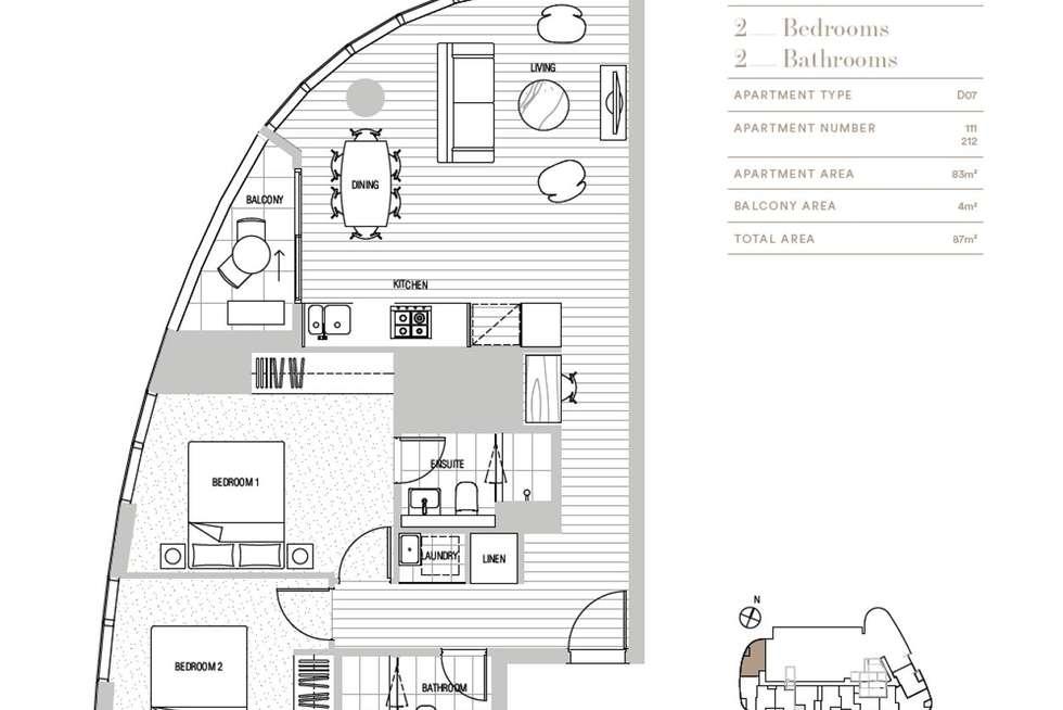 Floorplan of Homely apartment listing, 111/628 Flinders Street, Docklands VIC 3008