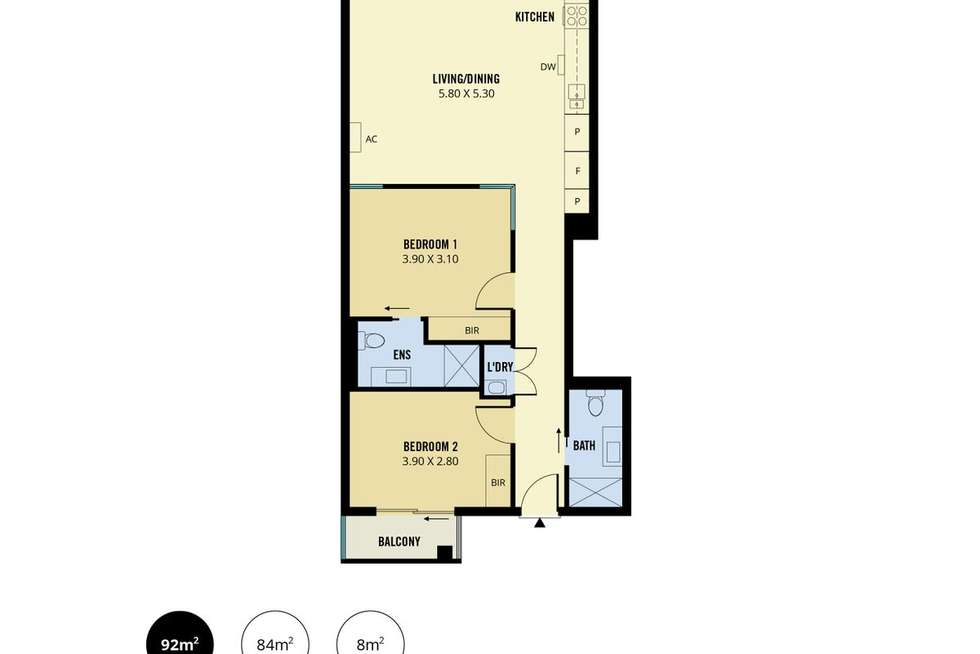 Floorplan of Homely apartment listing, 300/271 Gouger Street, Adelaide SA 5000
