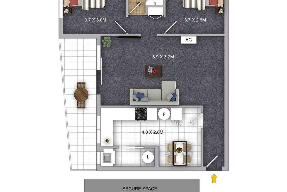 Floorplan of Homely apartment listing, 9/10-12 Albert Steet, North Parramatta NSW 2151