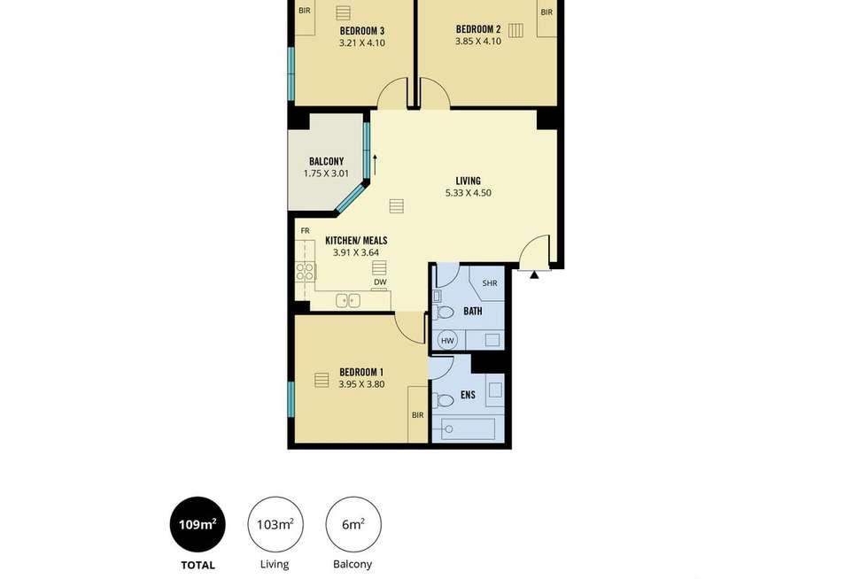 Floorplan of Homely apartment listing, 501/39 Grenfell Street, Adelaide SA 5000