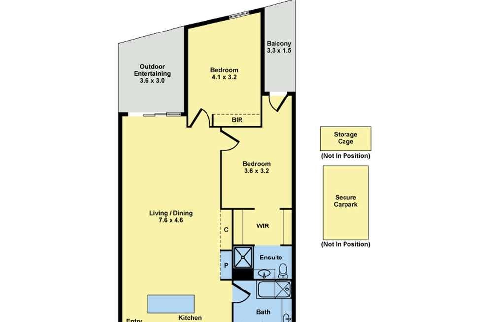 Floorplan of Homely apartment listing, 110/18 Bent Street, Kensington VIC 3031