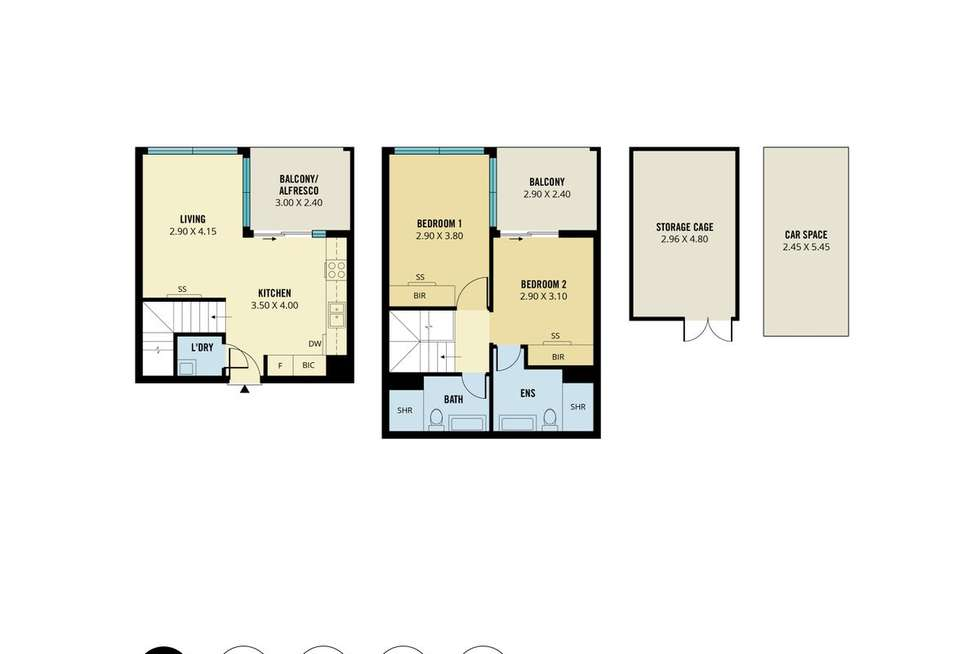 Floorplan of Homely apartment listing, 307/68 Elizabeth Street, Adelaide SA 5000
